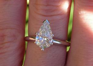 Pear Cut Diamond posted by Siamese Kitty
