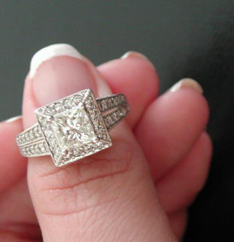Princess cut diamond ring by Beautifuldisaster