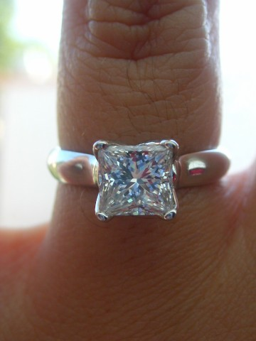 Princess cut diamond ring by ChargerGrrl