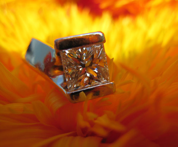 Princess cut diamond ring by SuzyQZ