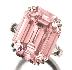 10.99 carat pink diamond ring sold at Sotheby's in May 2011
