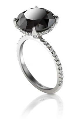 5 carat black diamond ring