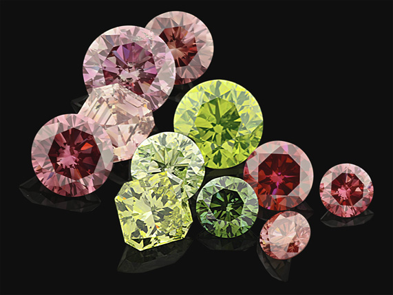 HPHT-grown diamonds that have been irradiated and annealed