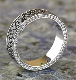 Black diamond ring by Engagement Rings Direct