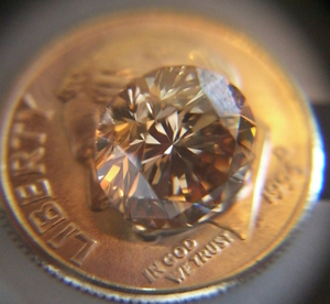 Faint Brown Diamond Ring