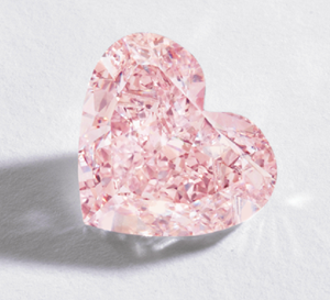 5 carat heart-shaped pink diamond sold at Sotheby's February 9, 2012