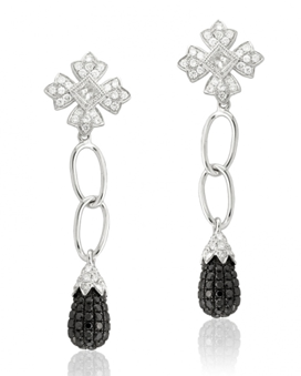 Leone Collection black diamond earrings