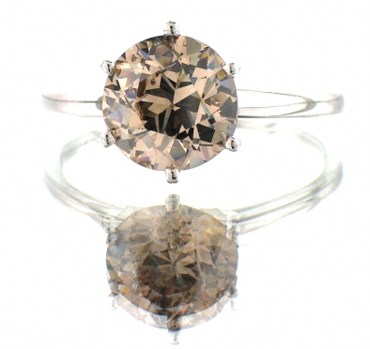 Light Brown Diamond Ring