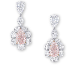 Pink diamond earrings sold at Christie's for $2 million in November 2011