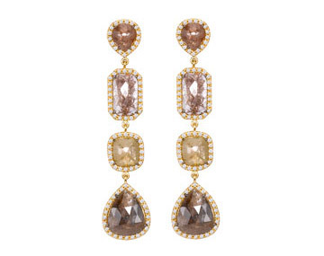 Sutra brown diamond earrings