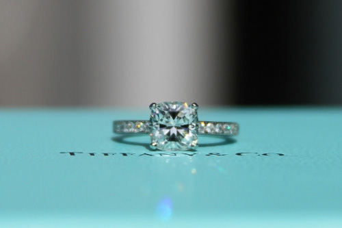 Tiffany Novo Cushion Cut Diamond Ring