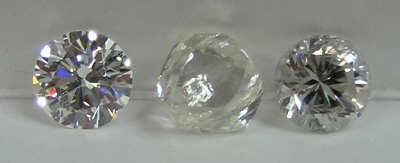 Well cut diamond vs. poorly cut diamond