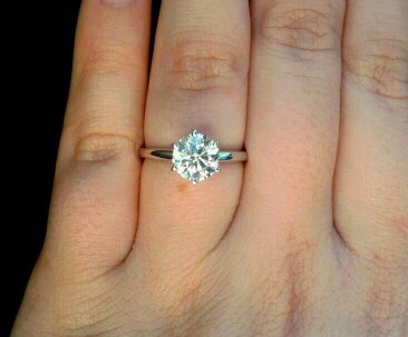 Image  1.5 Carat Round Cut Solitaire Engagement Rings
