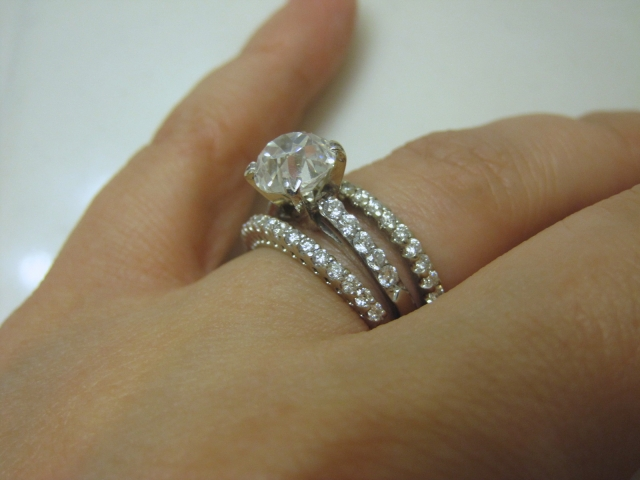 Similarly Set Wedding Bands To A Channel Setting It Would Absolutely Be Better Choice For Practical Reasons But I Ve Become So Attached My E Ring
