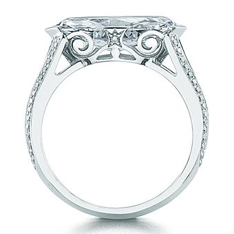 Wedding Ring Mounts 16 Awesome Marquise diamond ring east