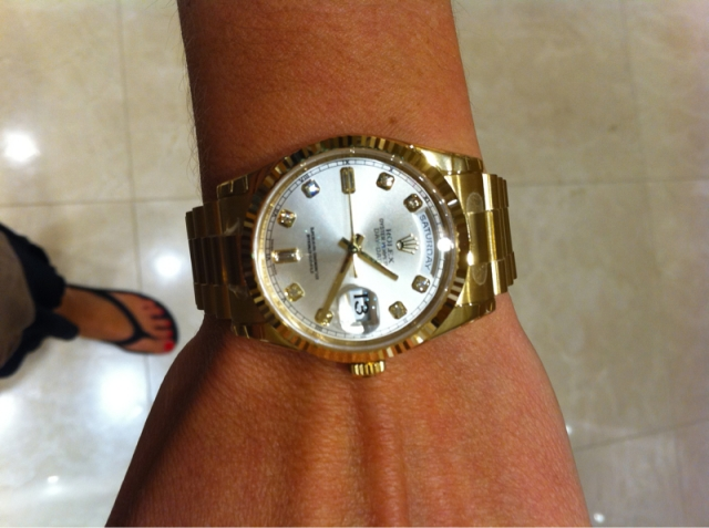 Ladies Rolex On Wrist Size of rolex for me?