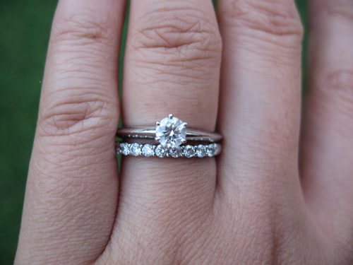 ring is the classic tiffany setting wedding band is