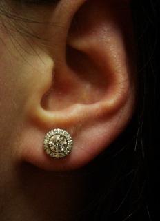 Diamond Solitaire Earrings Size