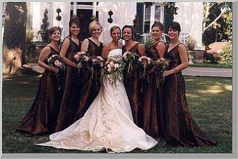 Brown Bridesmaid Gown | Wedding Pictures Ideas