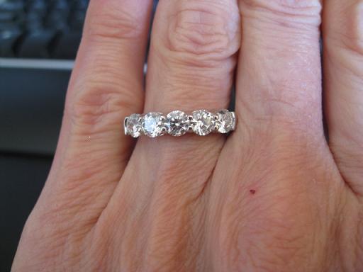 5 Stone Ring Choice 1 25 Ctw G Vs2 Or 1 62 Ctw I Vs2