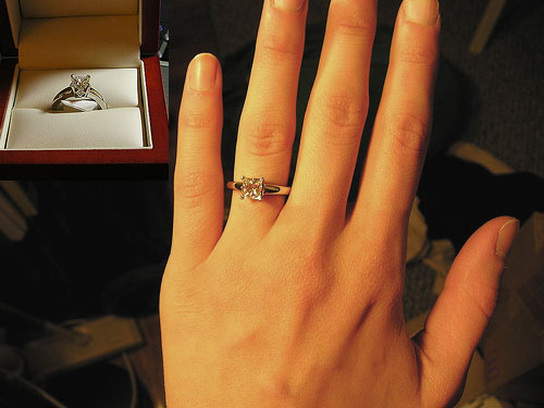Expensive ring for newlyweds Marquise diamond ring costco
