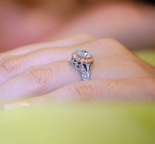 How Do You Wear Your Wedding Band With Halo E Ring RockyTalky