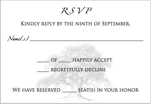 Information for Wedding invitation wording limited seating