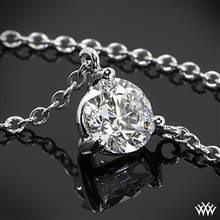 "0.40ctw 18k White Gold Three-Prong ""Martini"" Diamond Pendant | Whiteflash"