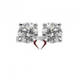 0.61 ct J SI Round Diamond Stud Earrings In 14K White Gold 10005255