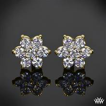"0.75ctw 14k Yellow Gold ""Flower Cluster"" Diamond Earrings (Meas: 8.50mm) 
