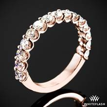 0.75ctw 18k Rose Gold Annette's U-Prong Three Quarter Diamond Wedding Ring | Whiteflash