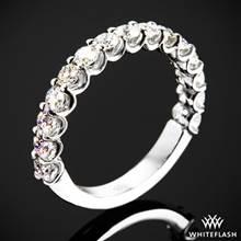 0.75ctw 18k White Gold Annette's U-Prong Three Quarter Diamond Wedding Ring   Whiteflash