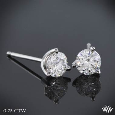 "0.75ctw Platinum 3 prong ""Martini"" Diamond Earrings - (H/I-SI)"
