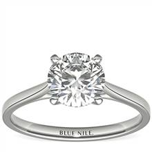 1-1/2 Carat Astor Petite Cathedral Solitaire in Platinum (H/SI2) Ready-to-Ship | Blue Nile