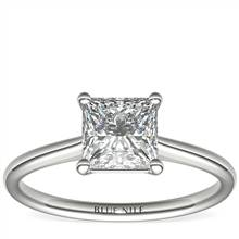 1-1/2 Carat Astor Princess-Cut Petite Solitaire in Platinum (H/SI2) Ready-to-Ship | Blue Nile
