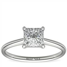 1-1/4 Carat Astor Princess-Cut Petite Solitaire in Platinum (H/SI2) Ready-to-Ship | Blue Nile