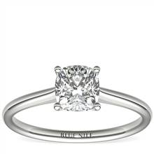 1 Carat Astor Cushion-Cut Petite Solitaire in Platinum (H/SI2) Ready-to-Ship | Blue Nile