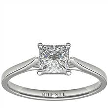 1 Carat Astor Princess-Cut Petite Cathedral Solitaire in Platinum (F/VS2) Ready-to-Ship | Blue Nile