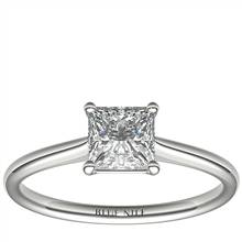 1 Carat Astor Princess-Cut Petite Solitaire in Platinum (H/SI2) Ready-to-Ship | Blue Nile