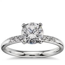 1 Carat Ready-to-Ship Petite Diamond Engagement Ring in Platinum   Blue Nile