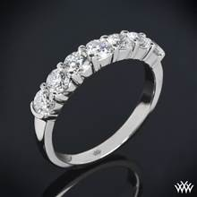 1.00ctw Platinum Seven Stone Shared-Prong Diamond Wedding Ring | Whiteflash