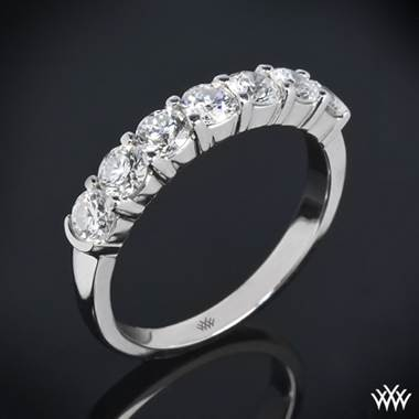 1 00ctw Platinum Seven Stone Shared G Diamond Wedding Ring