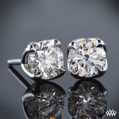 "1.00ctw Platinum ""W-Prong"" Diamond Earrings - (I-SI; 5.20mm)"