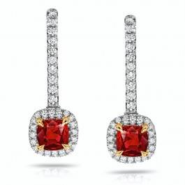 1.04ct Red Ruby Cushion