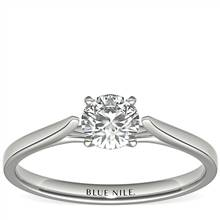 1/2 Carat Astor Petite Cathedral Solitaire in Platinum (H/SI2) Ready-to-Ship | Blue Nile