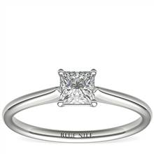 1/2 Carat Astor Princess-Cut Petite Solitaire in Platinum (H/SI2) Ready-to-Ship | Blue Nile