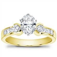 1/2 ct. tw. Princess-Cut and Round Diamond Setting | Adiamor
