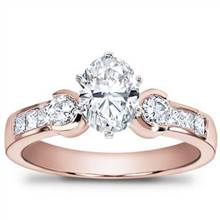 1/2 ct. tw. Princess-Cut and Round Diamond Setting | Adiamor