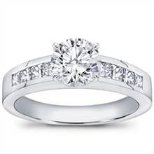 1/2 ct. tw., Princess-Cut Engagement Setting | Adiamor