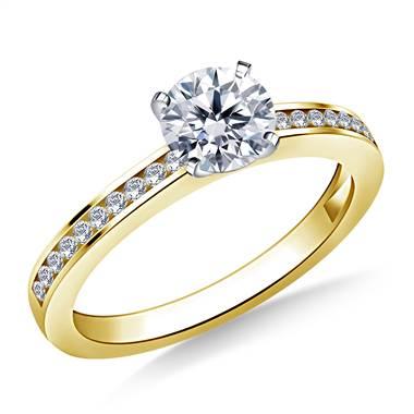 c18ed3f1da906 1/2 ct. tw. Round Brilliant Diamond Channel Set Engagement Ring in 14K  Yellow Gold